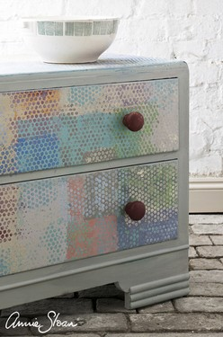 Paris Grey small cabinet, multi colour, Paul Klee artist inspired, pop art style image 2 (1) - Copia.jpg